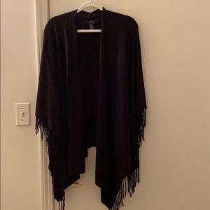 Black Fringe Shawl